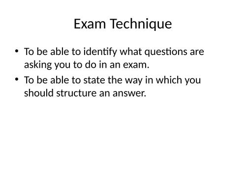 Exam Technique in Science Prompts
