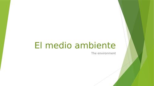 Spanish GCSE - The Environment