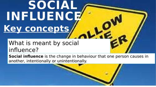 OCR GCSE Psychology Social influence topic