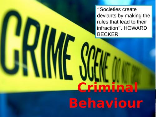 GCSE OCR psychology criminal behaviour