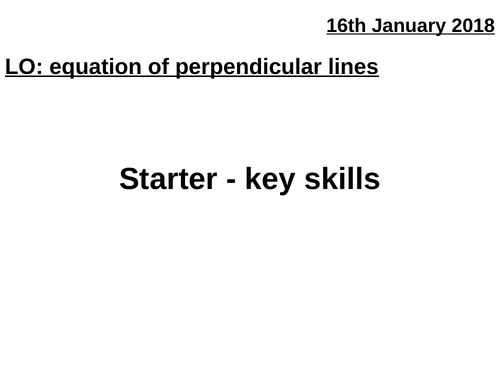 Equation of perpendicular lines