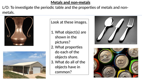 Metals and Non-Metals and the Periodic Table (KS3 Chemistry)