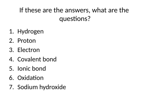 GCSE Chemistry Group 7 Reactions