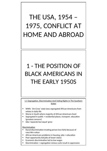 EDEXCEL GCSE HISTORY: USA