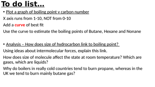 GCSE Chemistry - Introduction to hydrocarbons