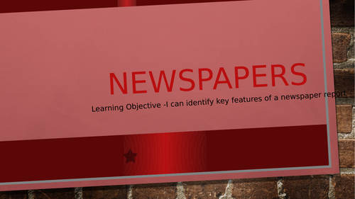 Features of a Newspaper