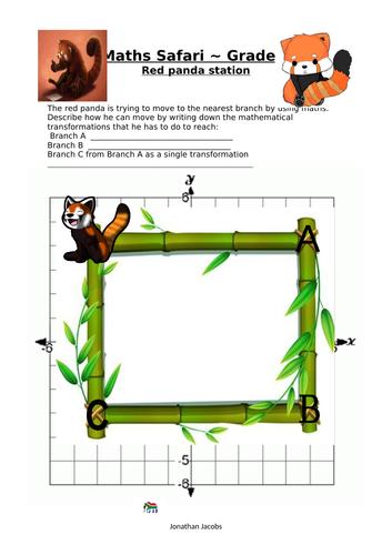 Zoo Trip - Maths SAFARI - Red panda station