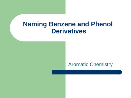 A Level Chemistry Naming Benzene and Benzene derived compounds + Nitration of Benzene