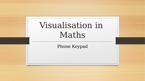 Visualisation in Maths