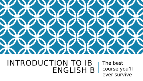 Introduction to English B