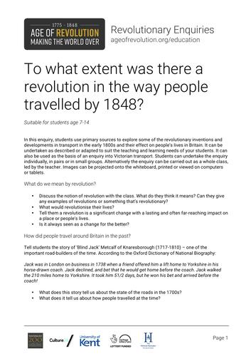 A transport revolution?