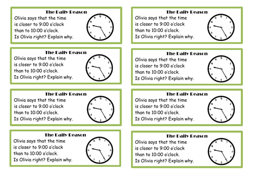 Year 4 - Time anchor tasks and questions