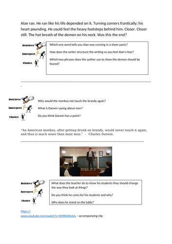 30 Guided Read starter activities Year 5 and 6 RIC's