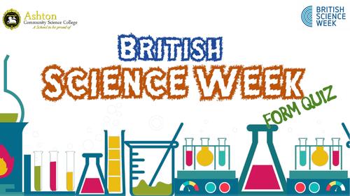 Science Week 2019 Quiz