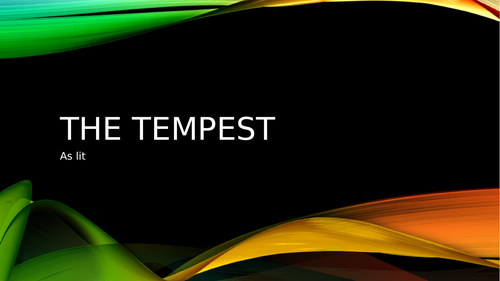 OCR The Tempest  - hours of lessons ready!