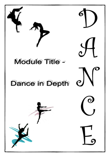 Dance in Depth - Student Work Booklet