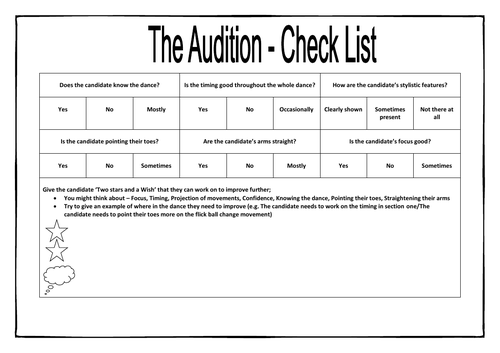 The Audition - Module of Dance