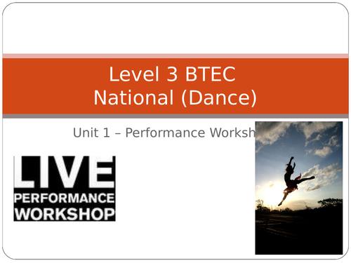 QCF - Unit 1 - Performance Workshop