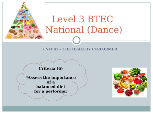QCF - Unit 42 - The Healthy Performer