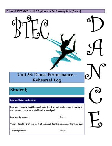 QCF - Unit 38 - Dance Performance