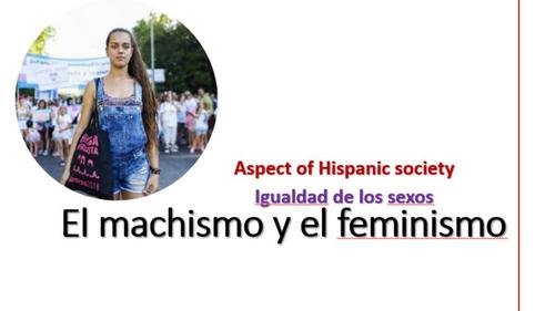 La igualdad de los sexos. El feminismo A Levels