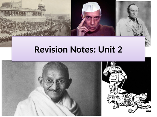 India and Britain 1914-1947-  Edexcel A Level Active Revision Booklet