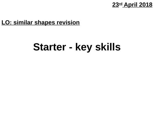 Similar shapes revision
