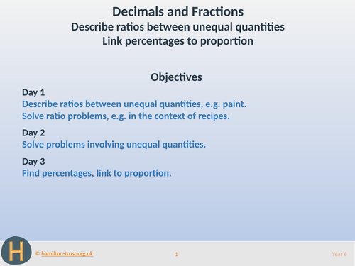 Ratios, proportion and percentages - Teaching Presentation - Year 6