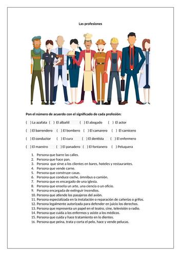 Las profesiones / Jobs / Professions / Careers