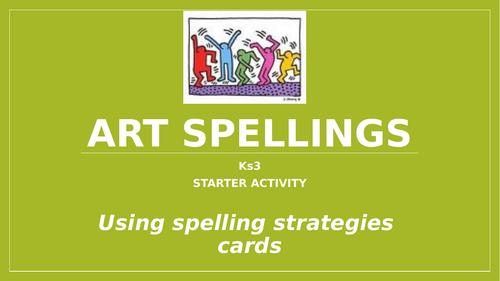 KS3 Art Spellings bundle!