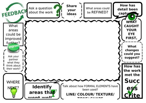 Peer assessment feedback frame