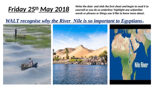 River Nile comprehension Geography