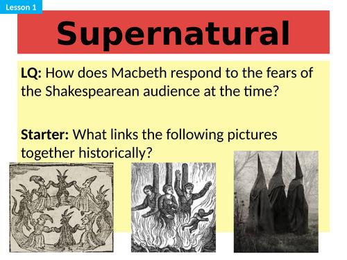 Macbeth Full SoW