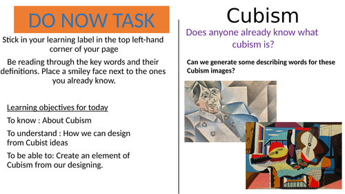 WHOLE YEARS PROJECTS! Year 9 ART, Cubism, Net making, drawing, 3D structure, homework, prep, revisio