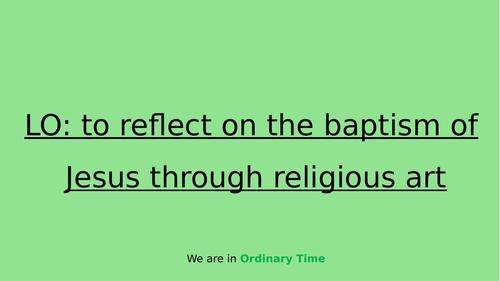 Reflecting on Jesus' baptism