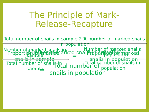 AQA A Level Biology - Mark Release Recapture