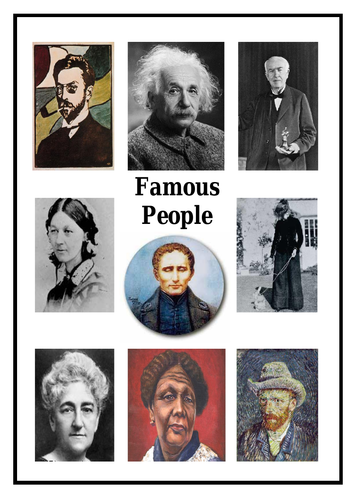 Famous People Unit of work + 16-page booklet