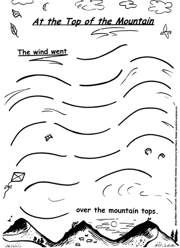 The wind went... exciting writing sheet