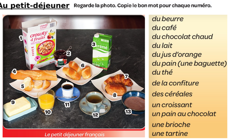 Petit déjeuner to go with Studio 2 Module 4 Unit 3