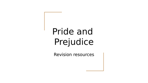 Pride and Prejudice revision PPT