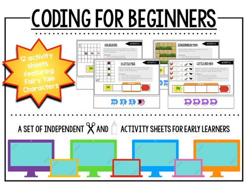 Coding for Beginners: Leveled Practice Sheets