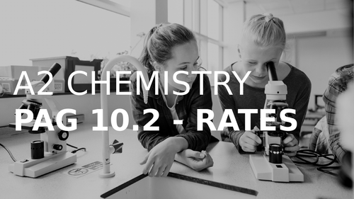 A2 CHEMISTRY - PAG 10.2 + 9.3 RATES