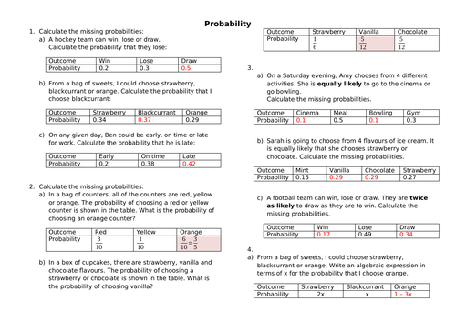 Probability of mutually exclusive events by s0507739   Teaching
