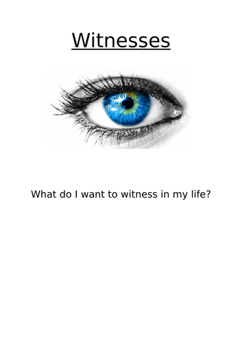 Come and See Year 6 topic 7 - Witnesses