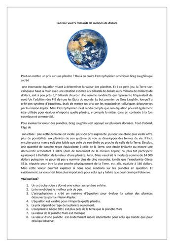 La terre / L'environnement / Earth / Space / Environment