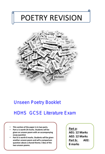 UNSEEN POETRY PRACTICE QUESTIONS AND REVISION GUIDE