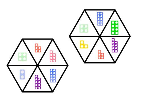 Number bonds numicon problem solving puzzle game