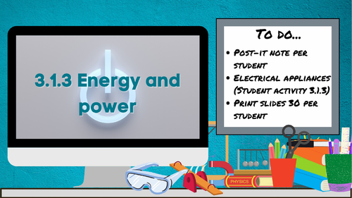 3.1.3 Energy and power (AQA KS3 Activate 1)