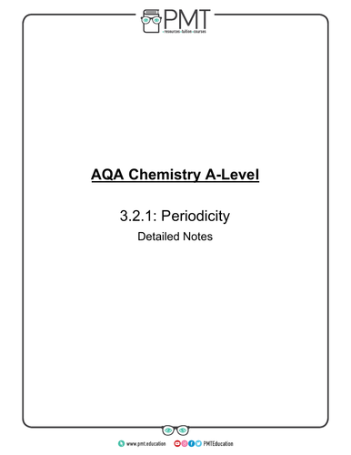 AQA  A-Level Chemistry Detailed Notes
