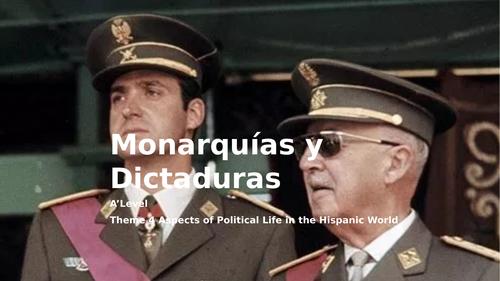 """Y13 Theme 4 Unit 5 """"Monarquías y Dictaduras"""""""